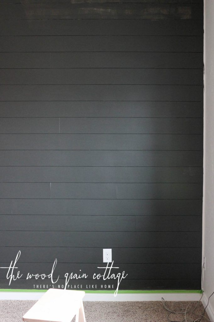 Painted Guest Bedroom Wall Black Painted Walls White Plank Walls Ship Lap Walls