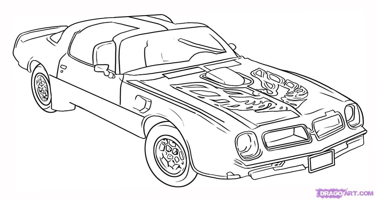 More Car Coloring Pages : Trans am car coloring pages cake pinterest