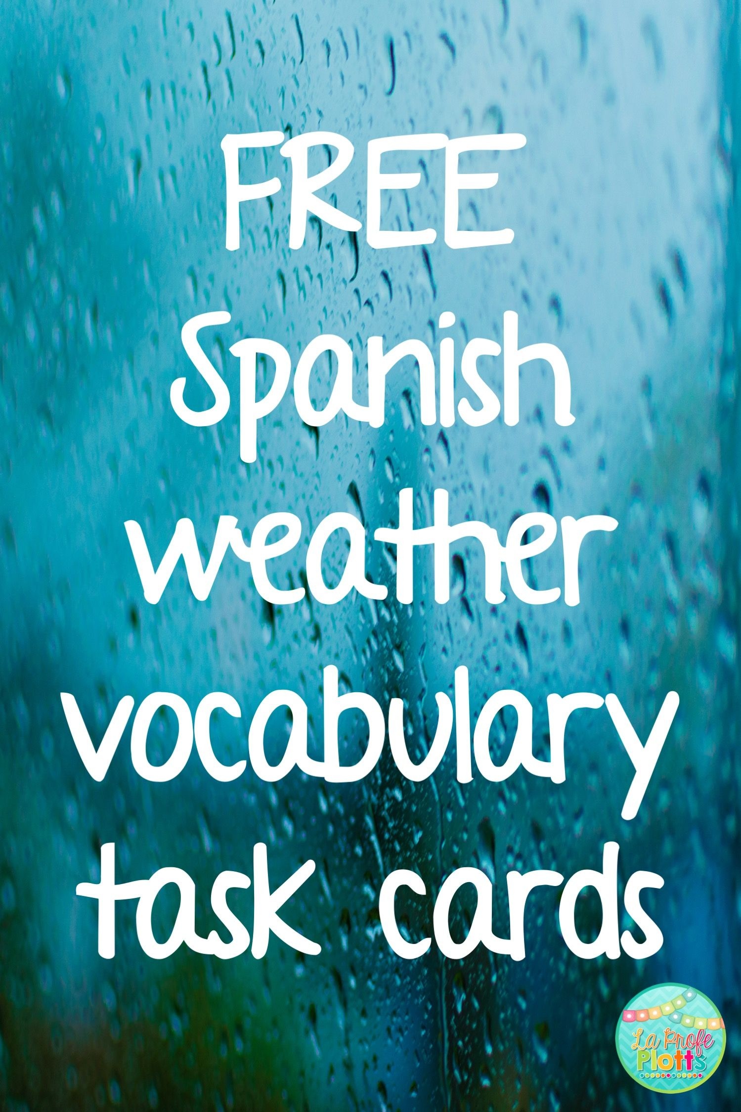 Spanish Weather Vocabulary Task Cards Freebie