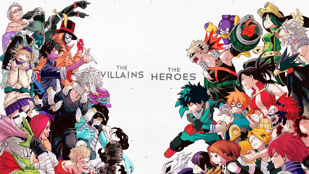 The Villains Vs The Heroes Boku No Hero Academia By Asr 94 Hero Wallpaper Anime Wallpaper Hero