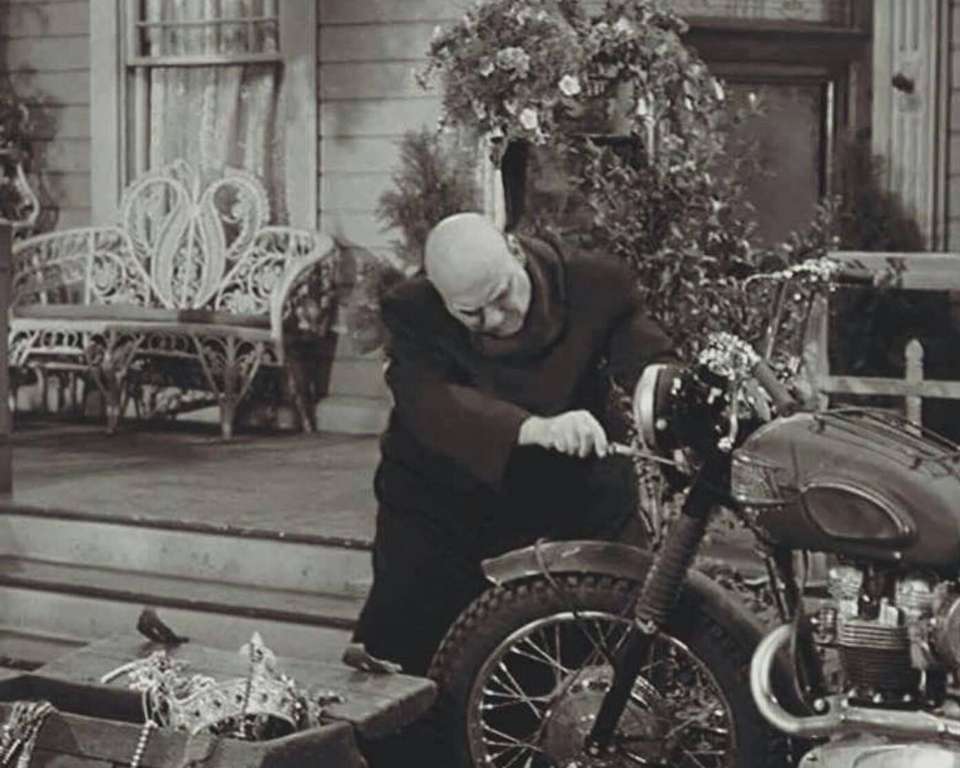 Uncle fester the addams family pinterest - Uncle Fester Rides A Triumph Addams Family