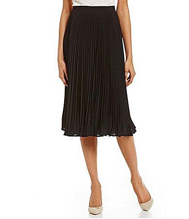 Calvin Klein Pleated ALine Skirt #Dillards