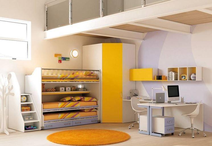 Letti A Castello Moretti Compact.Letti Moretti Compact Quarto Infantil Casas Quartos