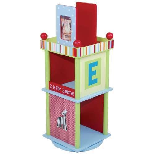 Cocalo Alphabet Soup Revolving Book Case Shelf Storage Kid Children Wood  Toddler | EBay