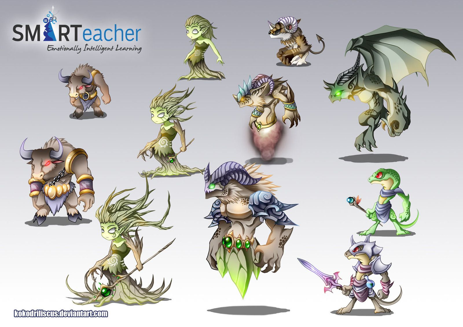 Prodigy Earth Monsters By Kokodriliscus On Deviantart Monster Prodigy Prodigy Math Game