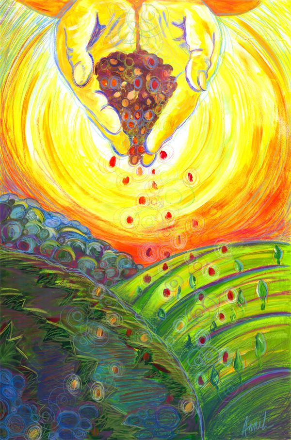 Sower of the Seeds | Holy spirit art, Seed art, Parable of the talents