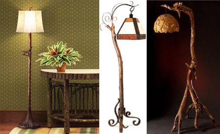 Lamparas buscar con google lamparas candelabros - Lamparas de pie rusticas de madera ...