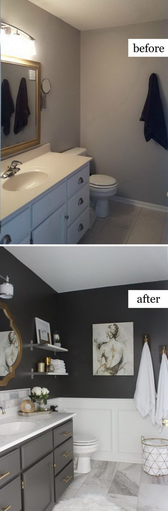 Bathroom Makeover Kit before and after: 20+ awesome bathroom makeovers | master