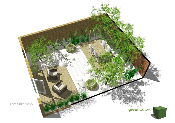 greencube garden and landscape design UK Courtyard Gardens