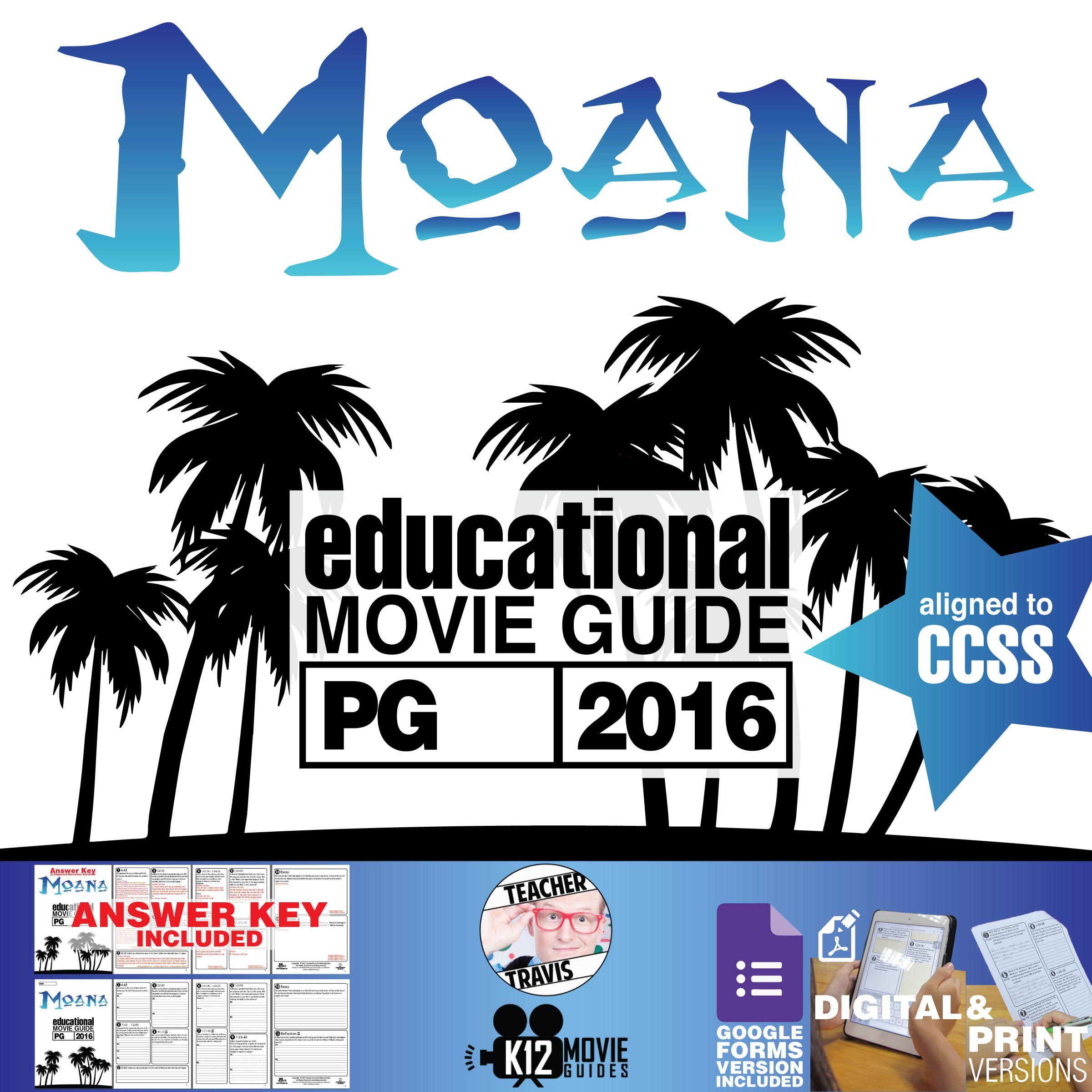 This Moana Movie Guide Questions Worksheet Pg