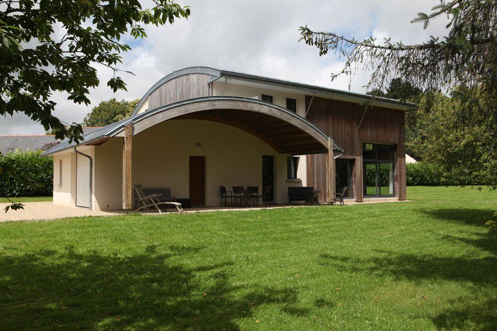A Bioclimatic House In Pluvigner, Brittany (France) By Patrice Bideau  #QuartzZinc #