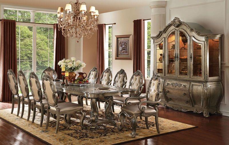 Ragenardus Vintage Oak Formal Dining Room Set Ornate Double