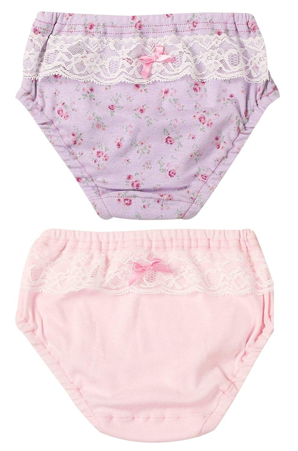 18cac7e421f Baby Girls Underwear Flower Printed Soft Cotton Briefs 2 Pack 1t Purple  Pink S - Purple