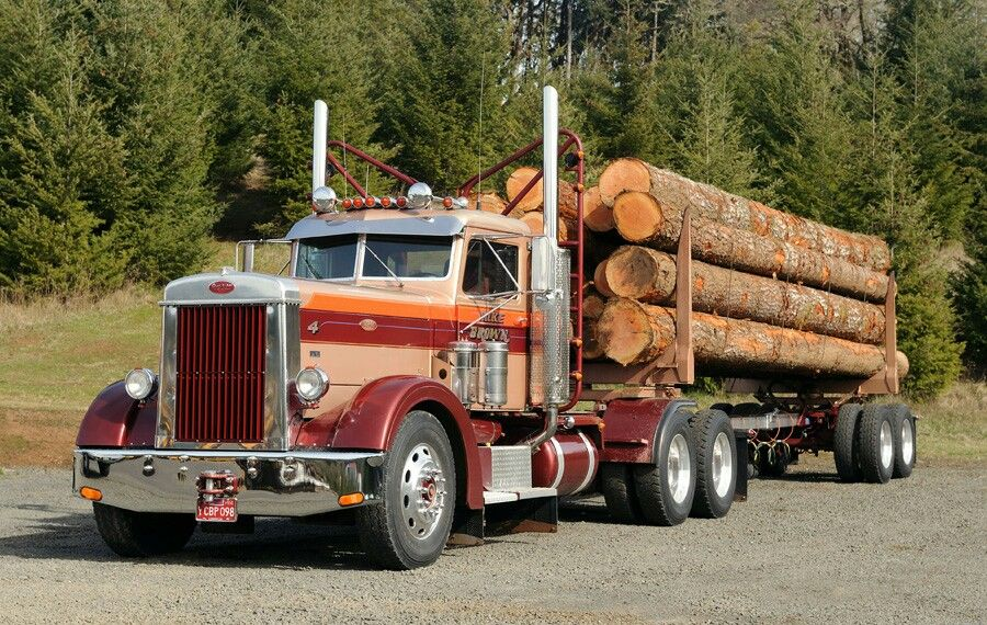 Peterbilt 351 Daycab Logging Trucks Peterbilt Big Rig Trucks
