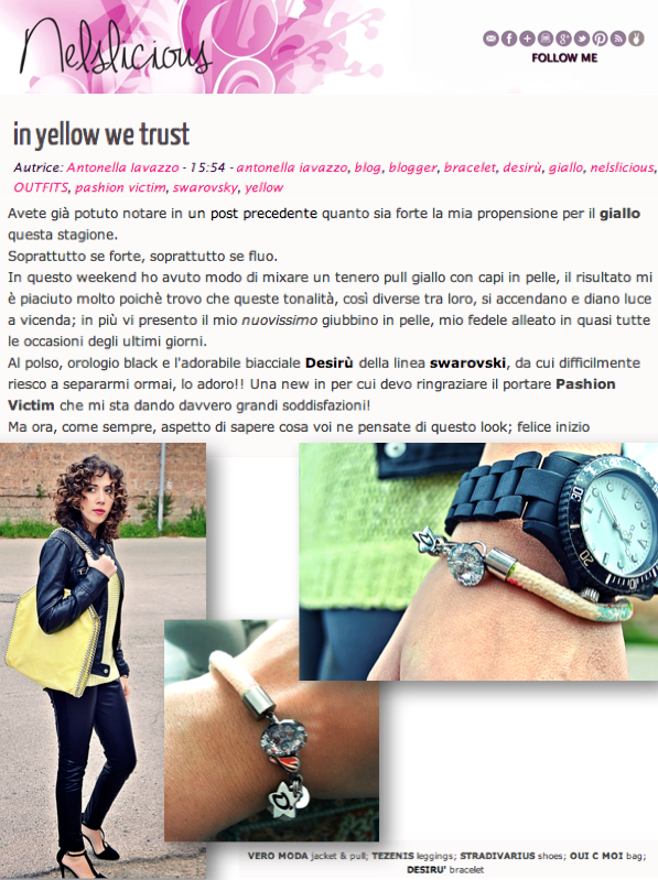 "Antonella Iavazzo wears Desirù series ""Swarovski"" @Nellie Iavazzo #desirù #desirumilano"