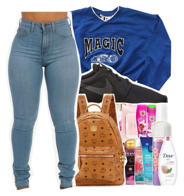"""""""Untitled #494"""" by iam-armani ❤ liked on Polyvore featuring NIKE, MCM, women's clothing, women, female, woman, misses and juniors"""