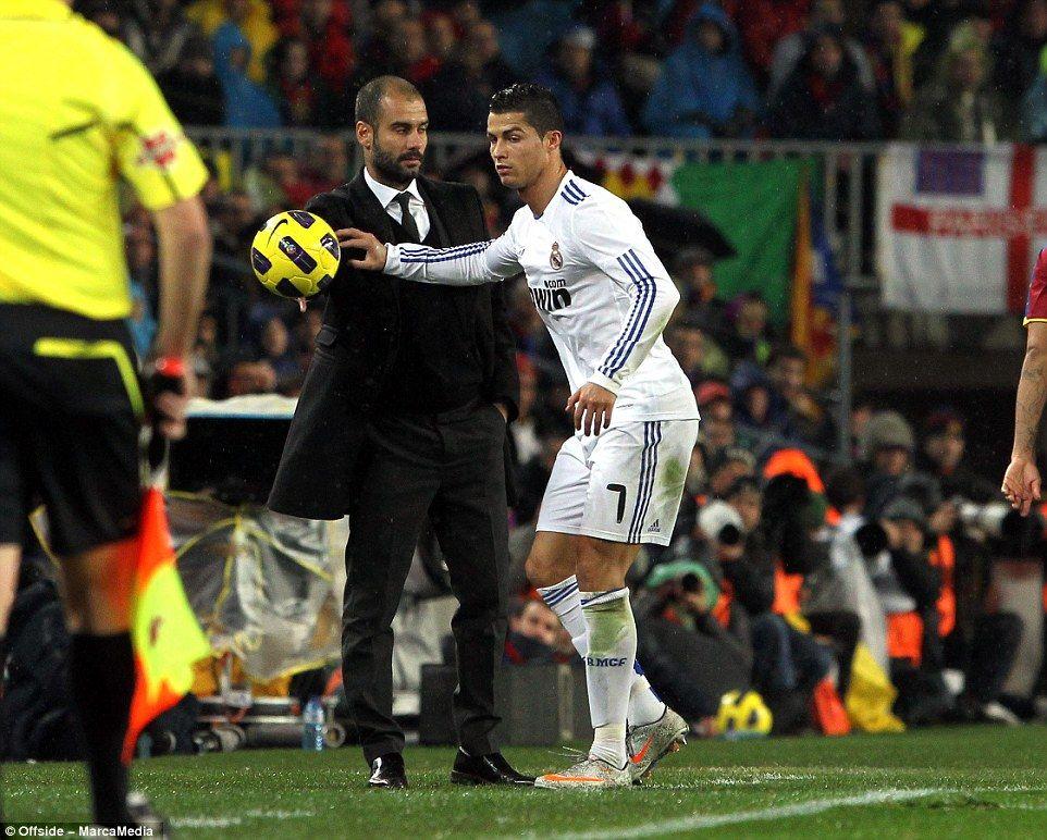 Kết quả hình ảnh cho pep guardiola Ronaldo