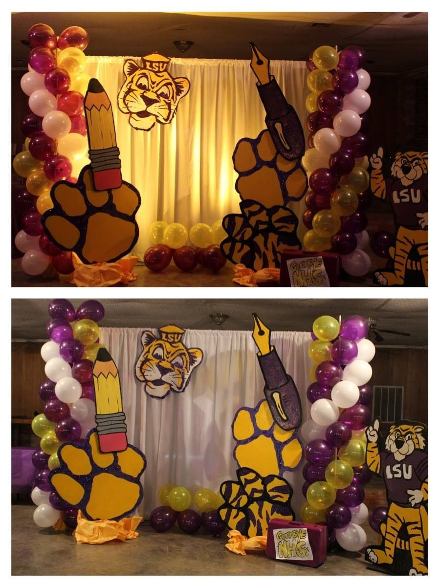 Lsu Themed Party Lsu Graduation Party Heading To College