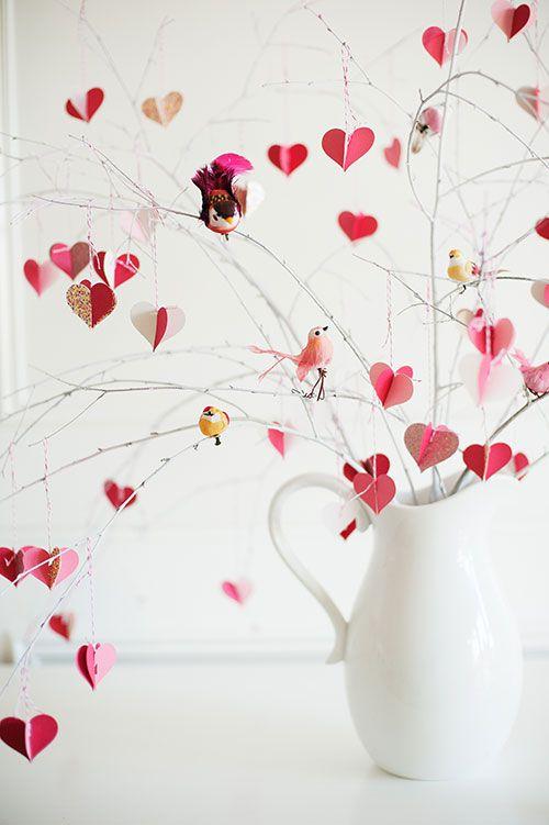 Diy Valentines Day Branch Tree Holidays Pinterest Decoracion - Decoracion-san-valentin-manualidades