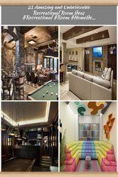 Photo of 21 Erstaunliche und unglaubliche Ideen für Freizeiträume #Recreational #Room # …, …, #Amazin …