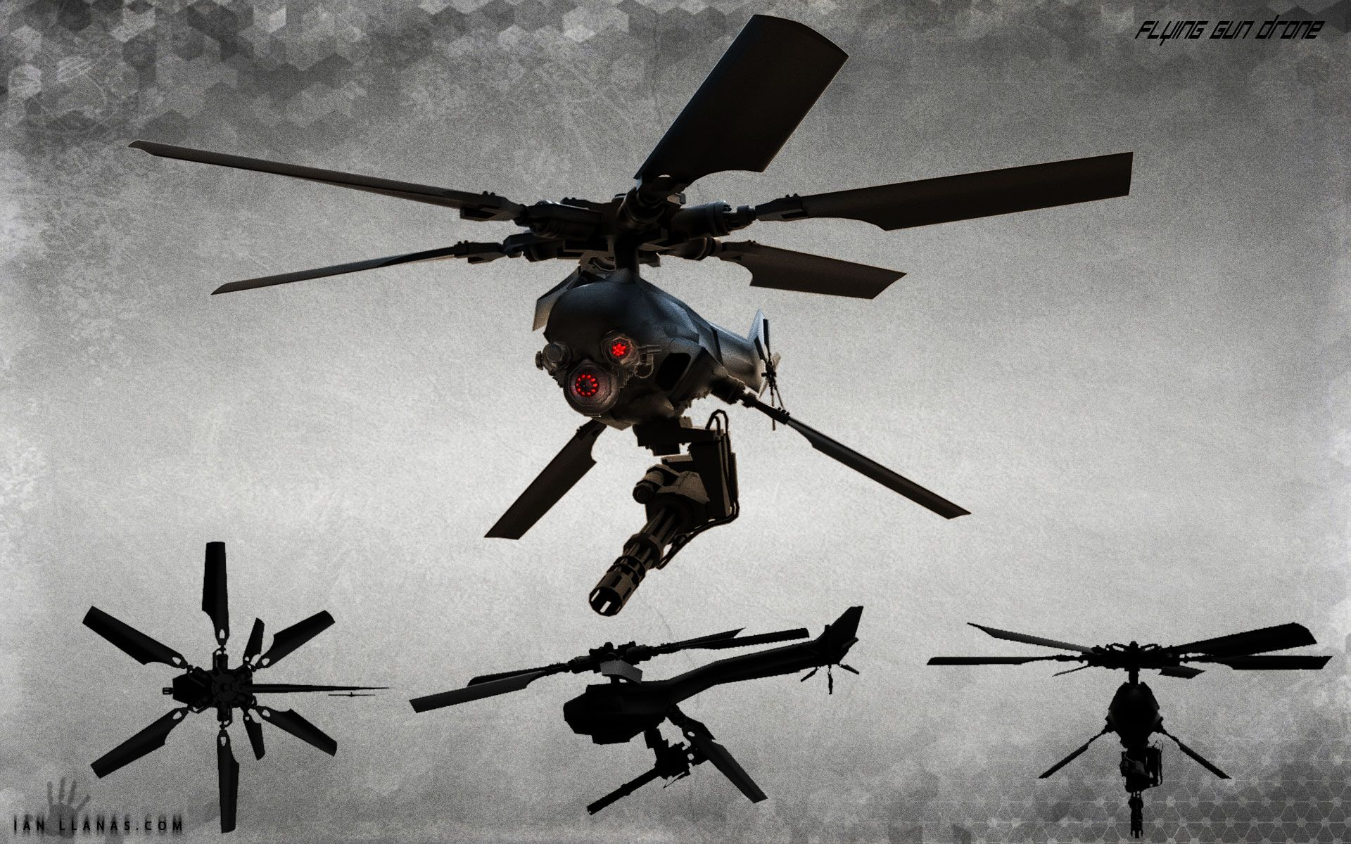 Gun Drone Concept Art By Ianllanas On DeviantArt