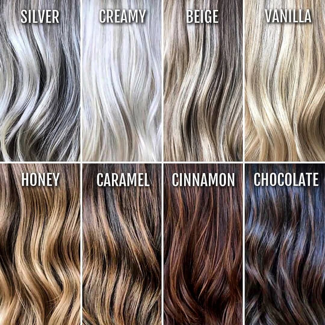The Best Hair Color Chart With All Shades Of Blonde Brown Red Black Hair Color Names Brown Hair Color Chart Hair Styles