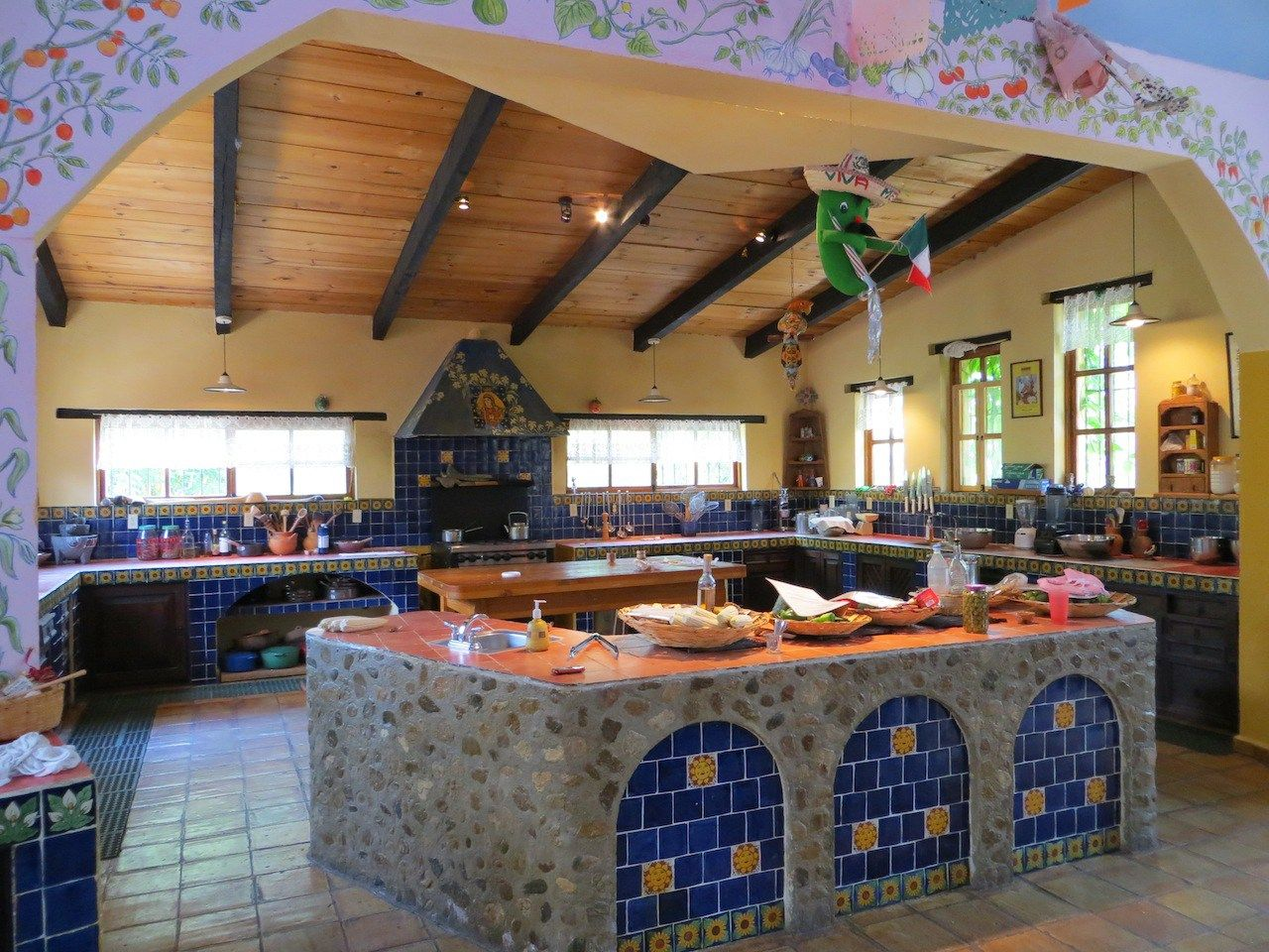 Beau The Kitchen At Seasons Of My Heart In Oaxaca. Photo By Dolores Wiarco Dweck.