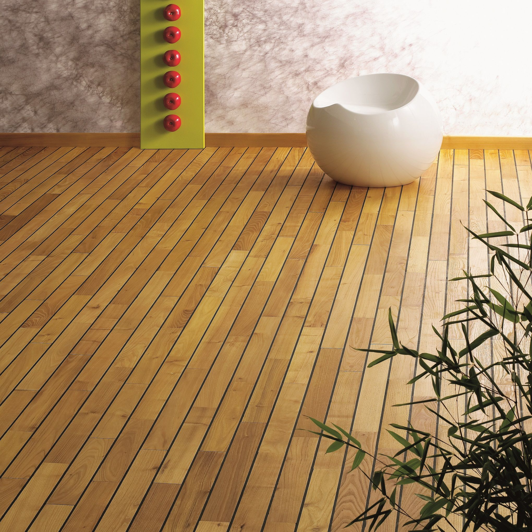 Acacia Navylam+ is a unique hardwood floor parquet system