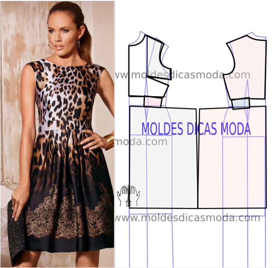 Vestido leopardo molde passo a passo | ropa de niñas con moldura ...