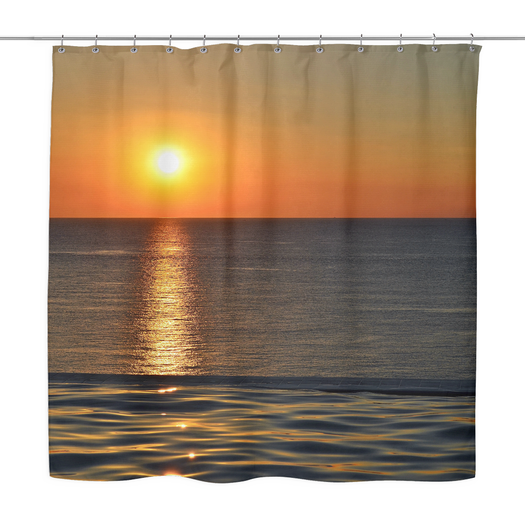 Reflective Sun Shower Curtain Shower Curtain Unique Shower Curtain Curtains