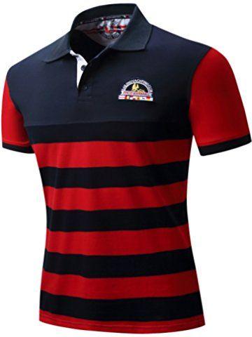 b3baff55d9a Neleus Men's Short Sleeve Cotton Polo Shirts | POLO in 2019 | Mens ...