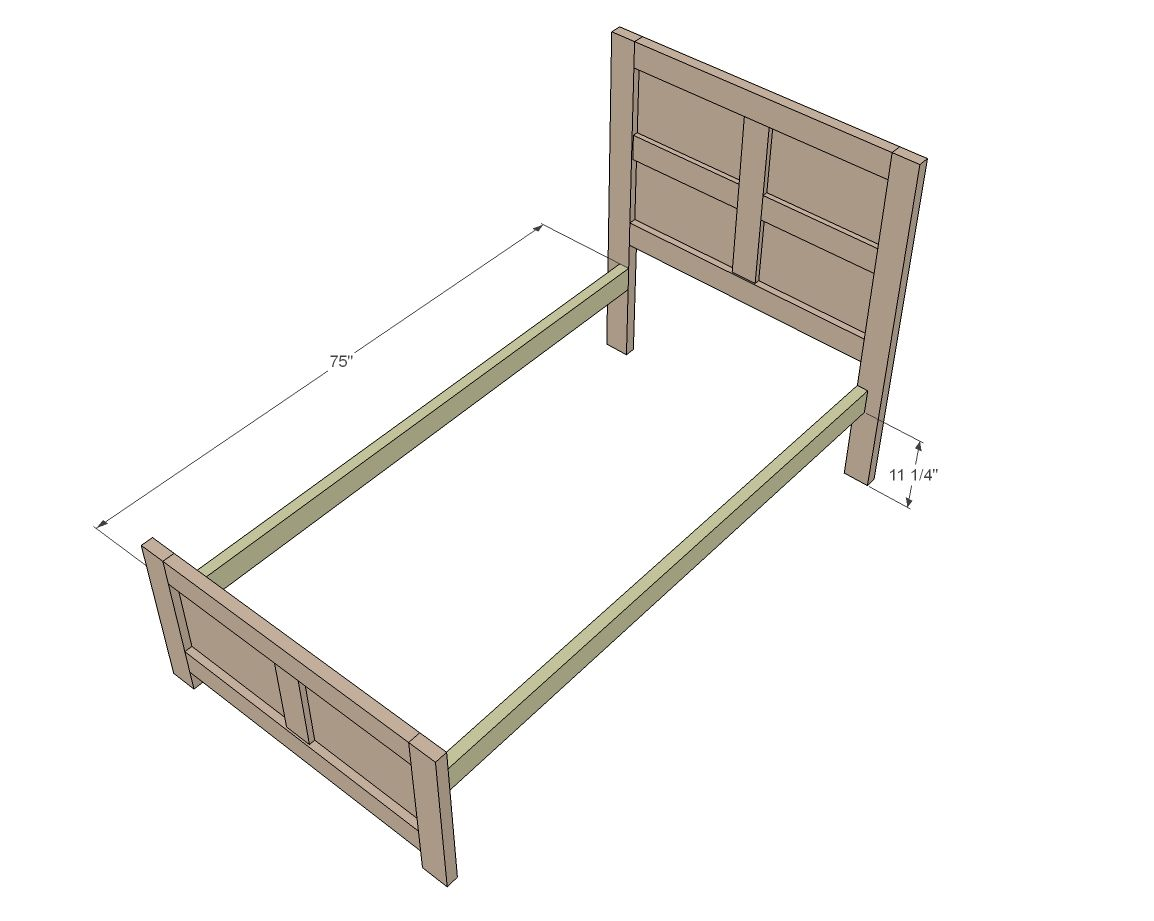 Emme Twin Bed Diy Twin Bed Diy Twin Bed Frame Ana White