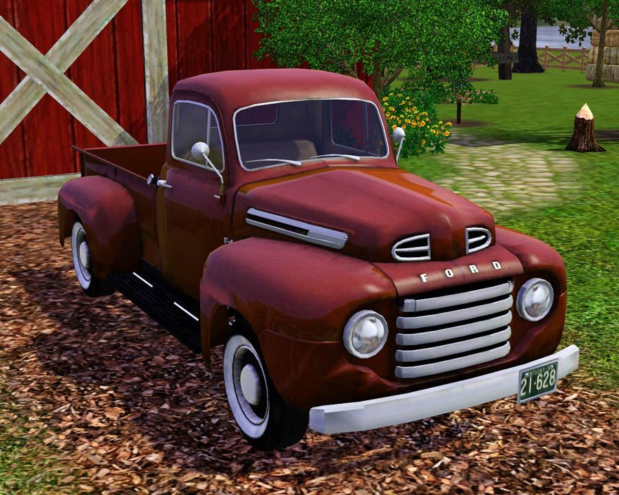 Mod The Sims 1950 Ford F 1 Pick Up Truck