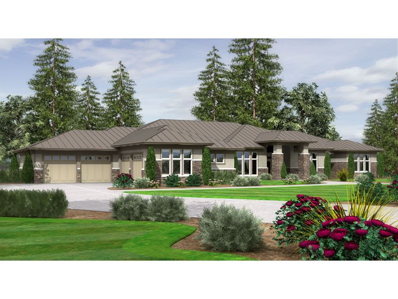 Tour The Tabitha Ranch Home That Has 3 Bedrooms, 3 Full Baths And 2 Half  Baths From House Plans And More.