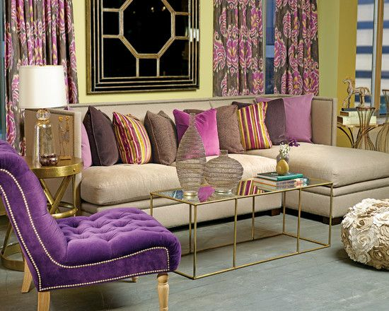 Plum Dandy Gramercy Sectional Eclectic Living Room Houston High Fashion Home
