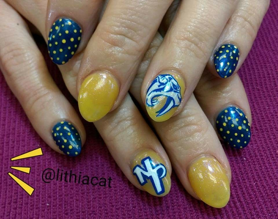 8a655a00b65 Nashville Predators Nail Design LET S GO PREDS! My nail girl ...