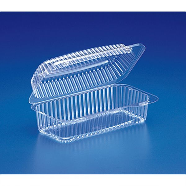 fc56b6f77f76 8 x 4 x 3 Plastic Hoagie Clear Hinged Lid Containers/Case of 300 in ...