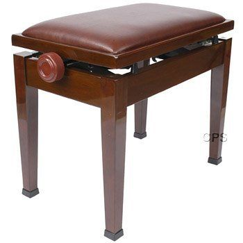 Walnut Adjustable Piano Bench With Quick Adjustment By Cps Imports 169 99 The Adjustable Piano Bench Is 21 5 Wide And 13 Deep And Piano Bench Bench Piano