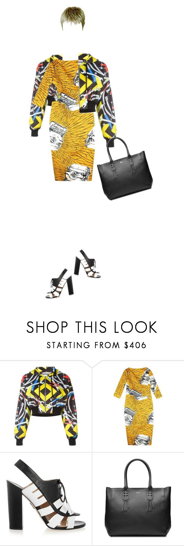 """suchan:155"" by suchan ❤ liked on Polyvore featuring Moschino, Stella Jean, Paul Andrew, Steffen Schraut and CroppedHoodie"