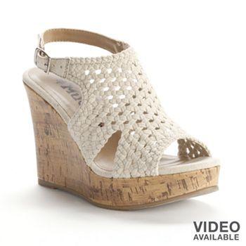 a28ed52ec8c Mudd Crochet Wedge Sandals - Women  Kohls