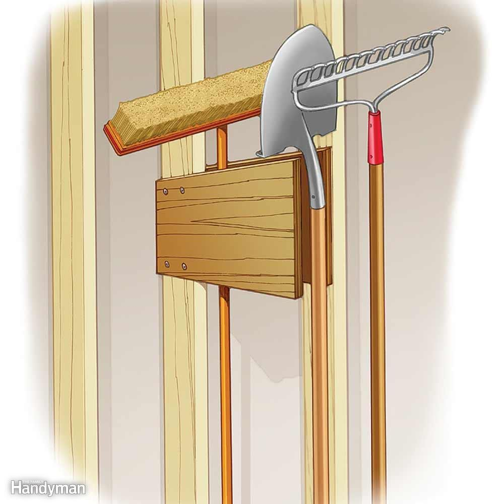 Garage-Wall Tool Holder | home tools | Pinterest | Garage walls and ...
