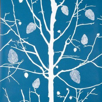 Amazon.com: Family Tree Blue Wallpaper by Ferm Living: Home Improvement