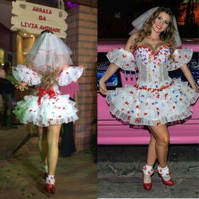 Mais uma vez a Antara Gold me surpreendeu com essa criação. ..o vestido de  noivinha caipira ficou lindo 1815429e339