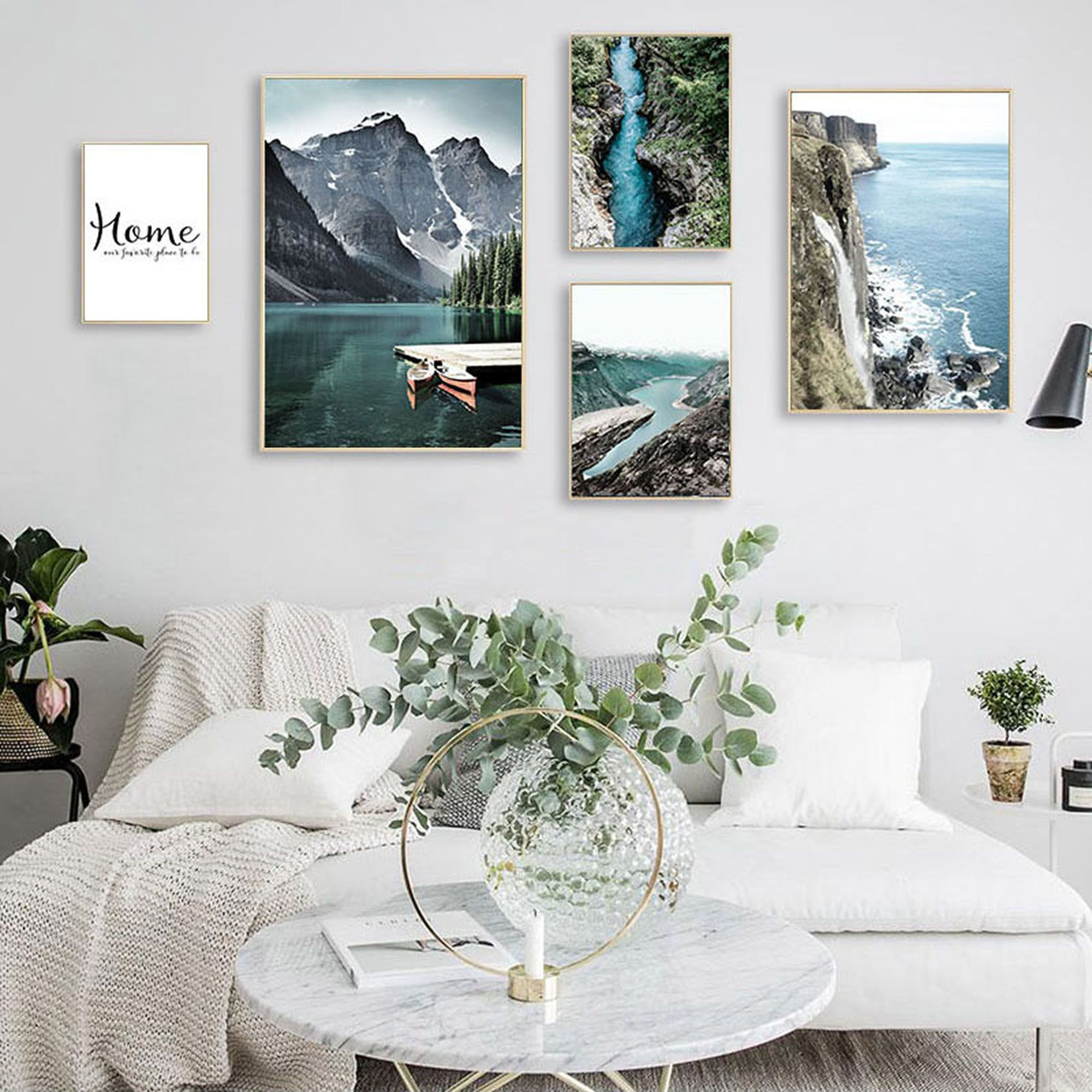 Mountain Lake Waterfall Picture, Nature Nordic Style, Botanical Painting,Nordic Wall Art,Housewarming Gift, Scandinavian Home Decor#arthousewarming #botanical #decor #gift #home #lake #mountain #nature #nordic #paintingnordic #picture #scandinavian #style #wall #waterfall