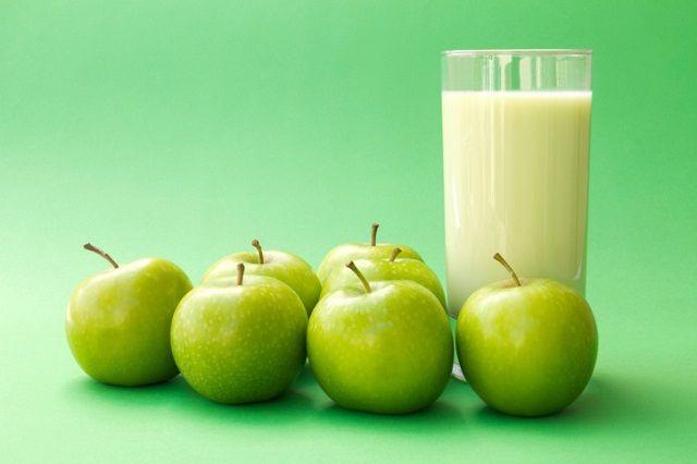 Avena y manzana verde para adelgazar