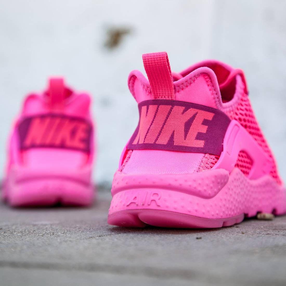 nike women w air huarache run ultra br pink pink blast. Black Bedroom Furniture Sets. Home Design Ideas