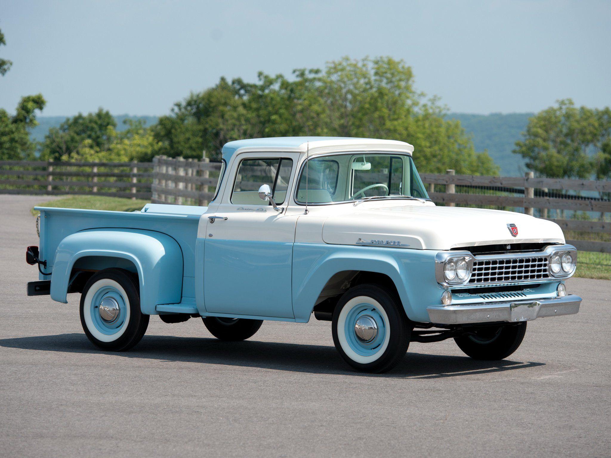 1958 Ford F 100 Custom Cab Flareside Pickup 8 3 F100 Retro Wallpaper 2048x1536 435179 Wallpaperup Trucks Ford Trucks Old Pickup Trucks