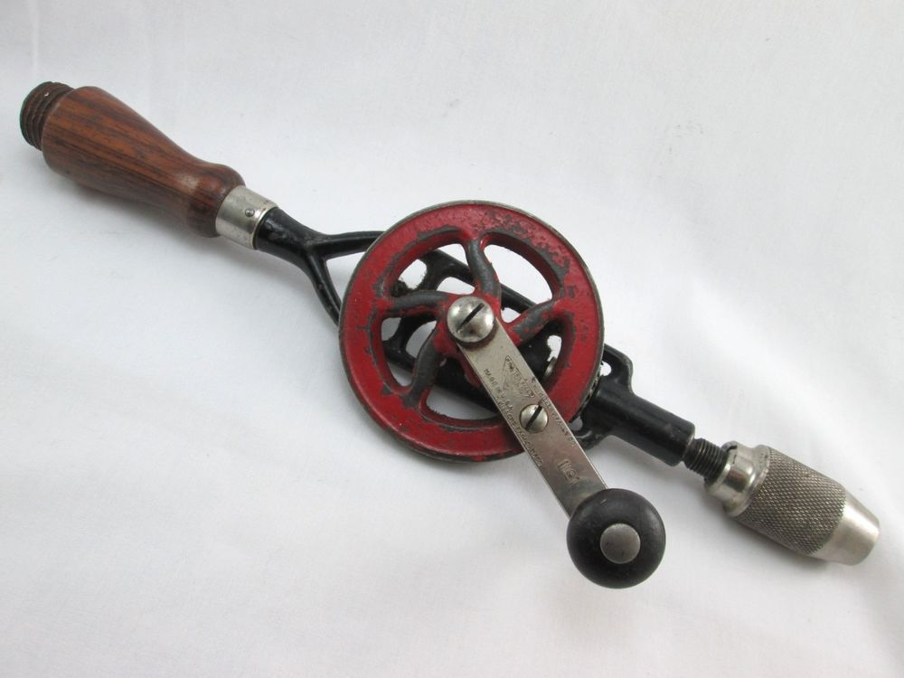 Vintage Cast Iron Eggbeater Hand Crank Drill MILLERS FALLS TOOLS Rotary No 1  #MillersFallsCompany