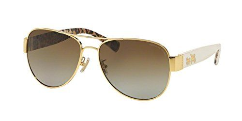 7cbb6d605bb9c ... france coach womens sunglasses hc7059 gold brown metal polarized 58mm  http 584cc a2db6