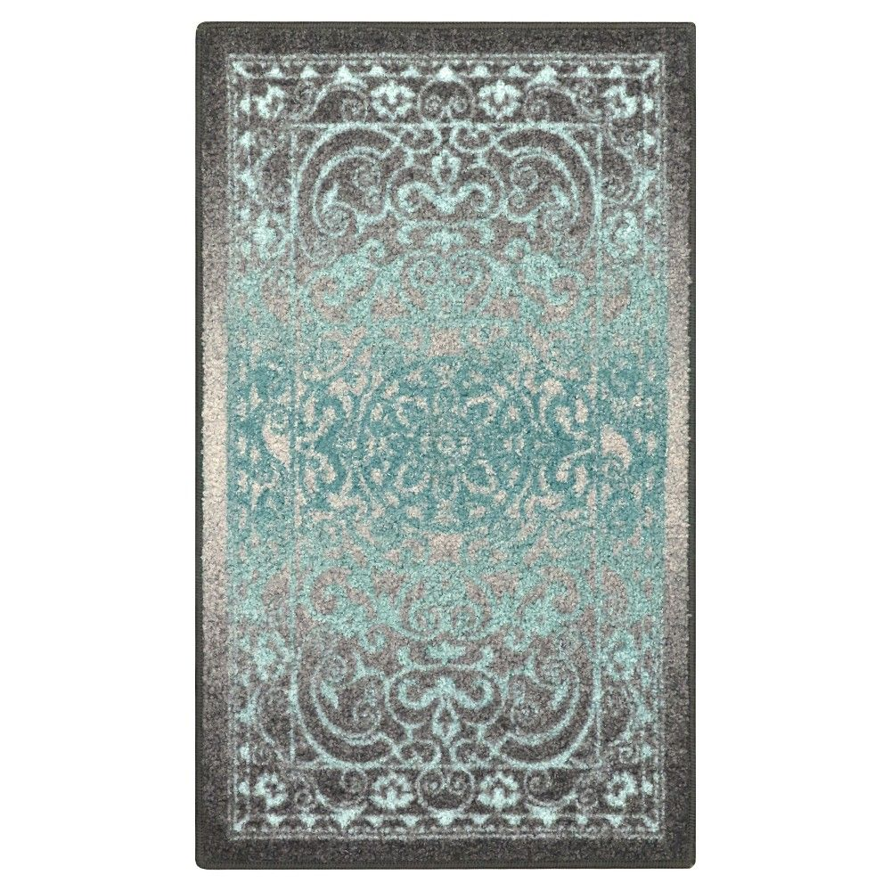1 8 X2 10 Scroll Tufted Accent Rug Green Maples Kitchen Rug Area Rugs Accent Rugs